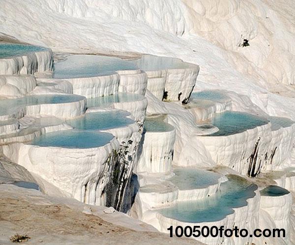 Травертиновые бассейны Памуккале, Турция