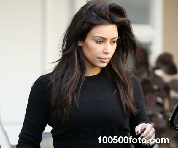 Ким Кардашьян без косметики