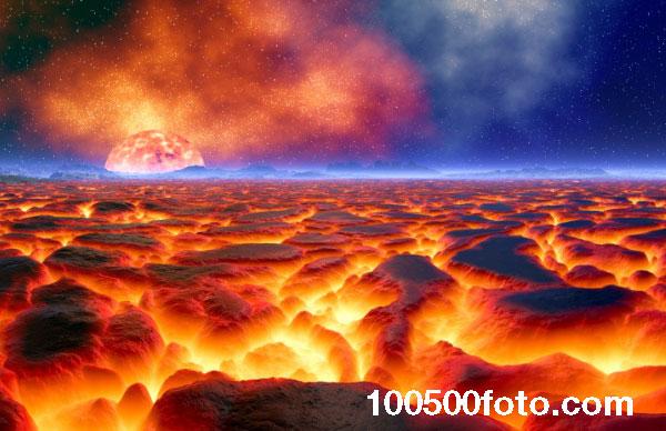 Планета адского лавового океана