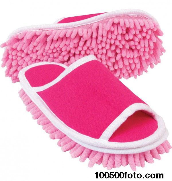 Тапочки с микрофиброй для уборки дома
