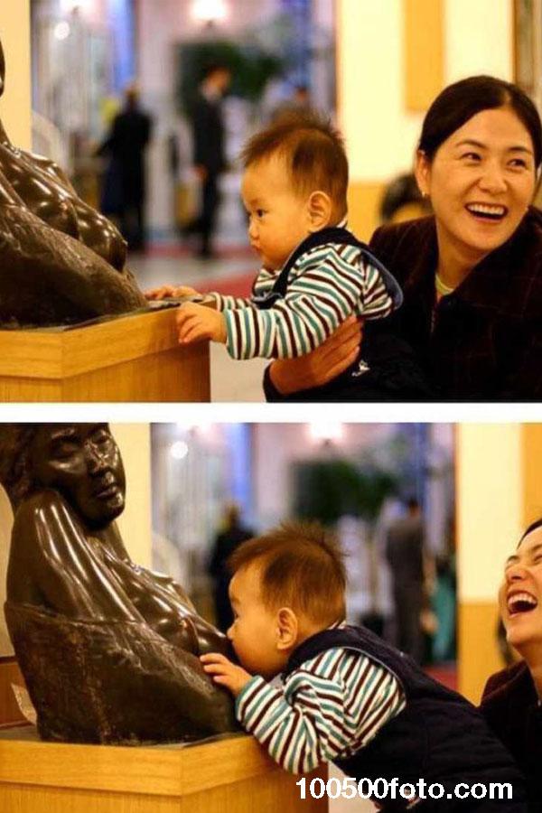 Эта женщина наверняка явно не является малышу матерью.