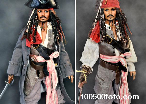 Джонни Депп в роли капитана Джека Воробья («Пираты Карибского моря»)