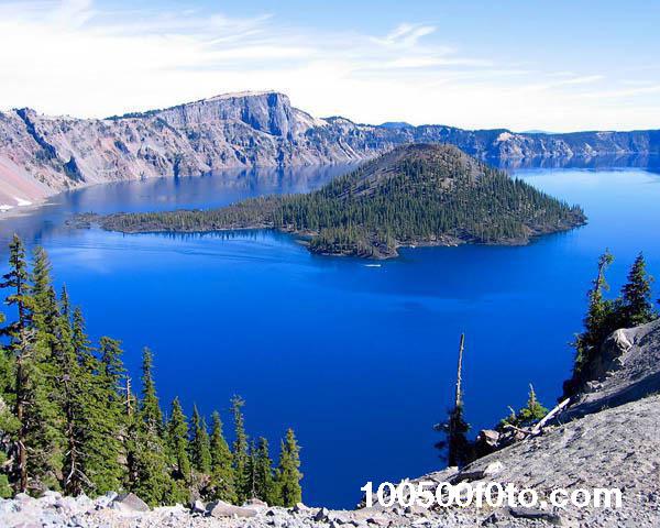 Кратерное озеро в штате Орегон