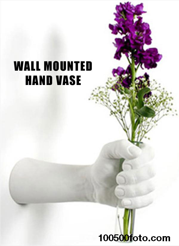 Креативная настенная ваза в виде руки