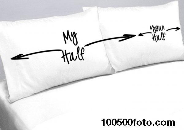 Забавные подушки для разделения кровати