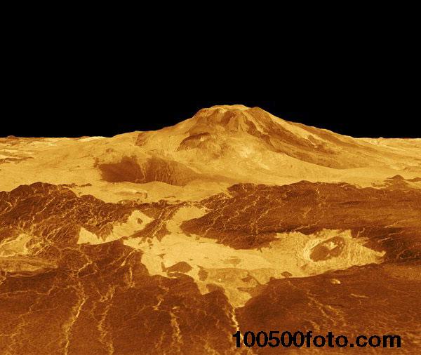 Необычный вулкан на Венере