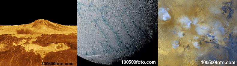 Самые зрелищные вулканы в космосе