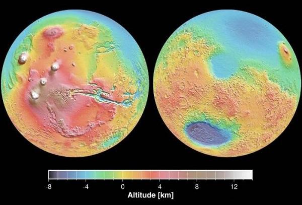 Марс учёные называют двуликой планетой