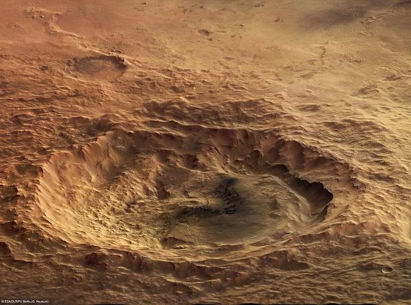 В Южном полушарии Марса образовалась глубокая воронка