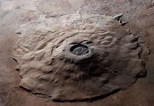 Вулкан на Марсе: фото