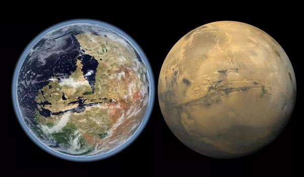 Озёра, реки и океаны на Марсе