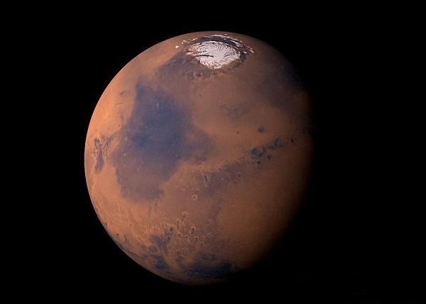 Вулкан Олимп на Марсе: фото