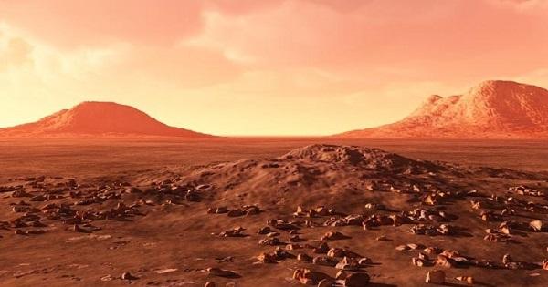 Небо на Марсе днём