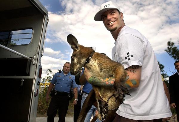 Ванилла Айс со своим кенгуру Баки
