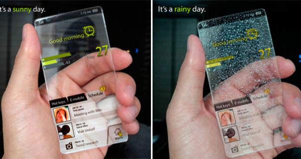 Прозрачный мобильный телефон