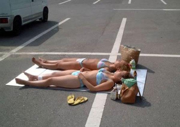 Прекрасное место для принятия солнечных ванн
