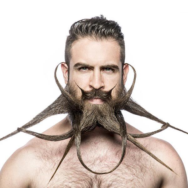 Оригинальная борода с усами