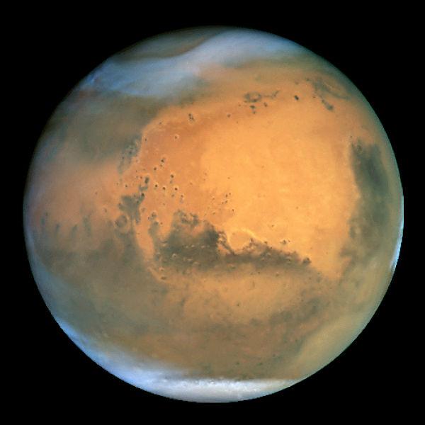 Вид Марса с телескопа Hubble