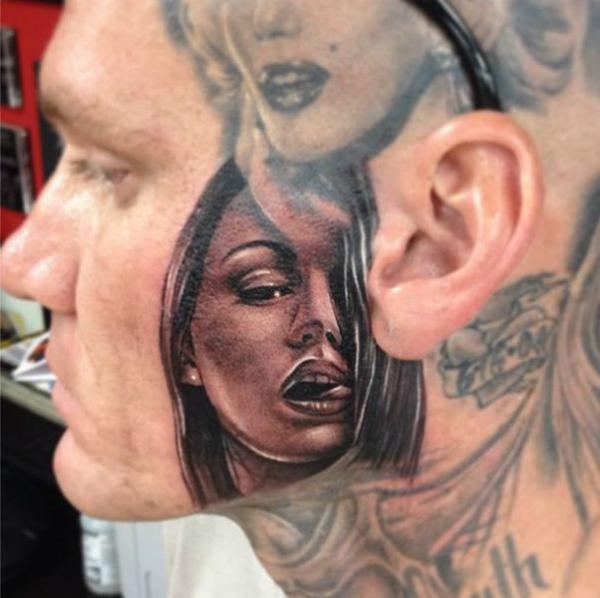 Интересный стиль – наслоенные тату