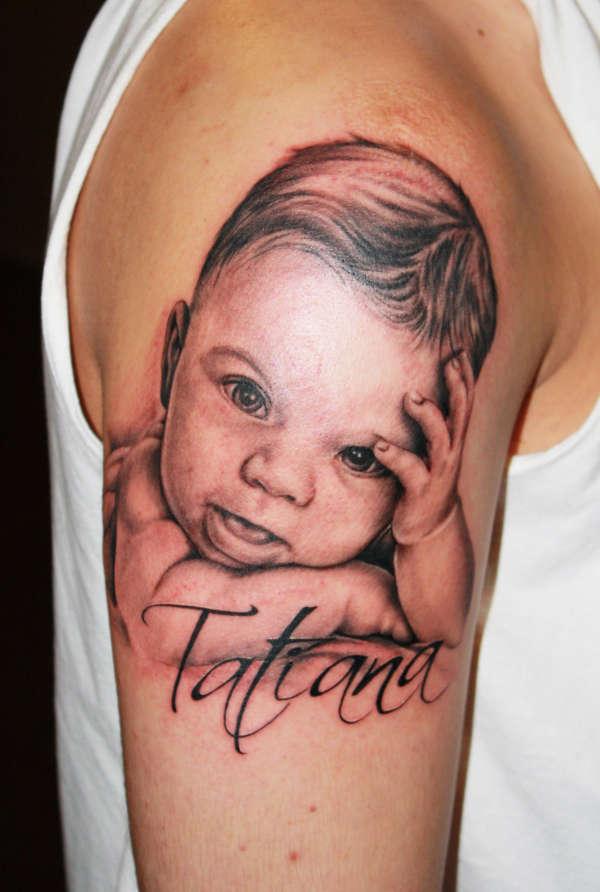 Тату маленькой Татьяны, чтобы не соскучиться