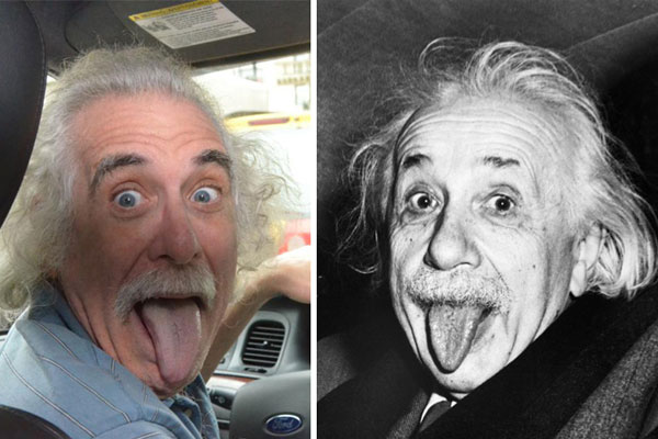 Таксист, подражающий Альберту Эйнштейну
