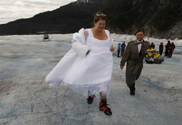 Бракосочетание на леднике