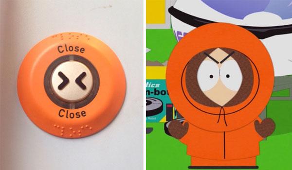 Кнопка, напоминающая героя мультфильма