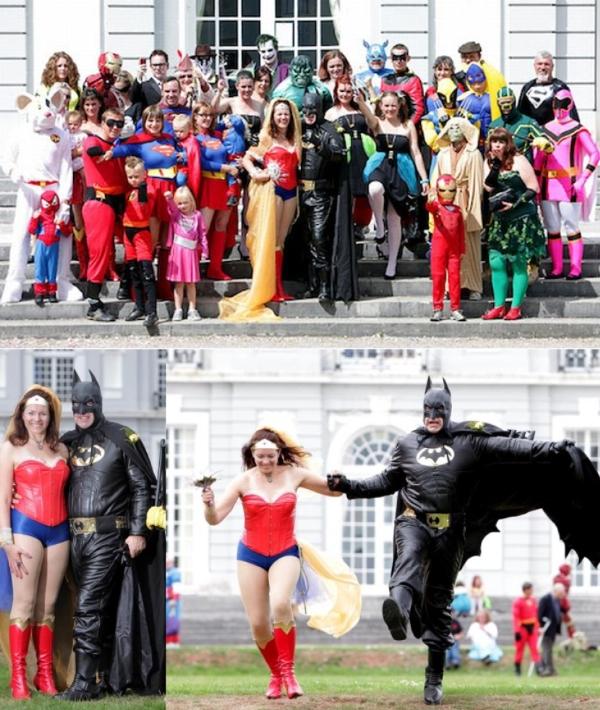 Свадьба в костюмах супергероев