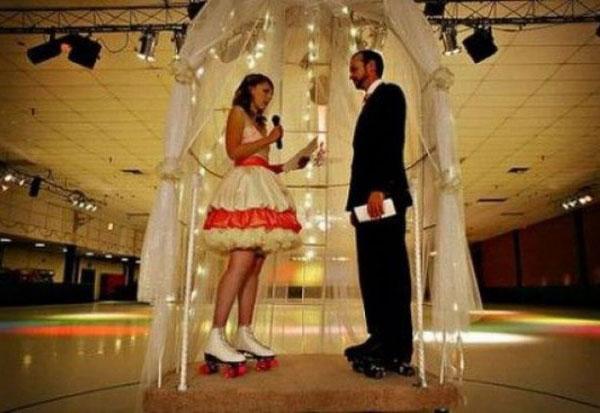 Свадьба на роликах