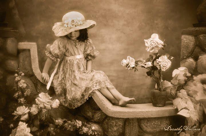 BDO tea dress & hat on wall