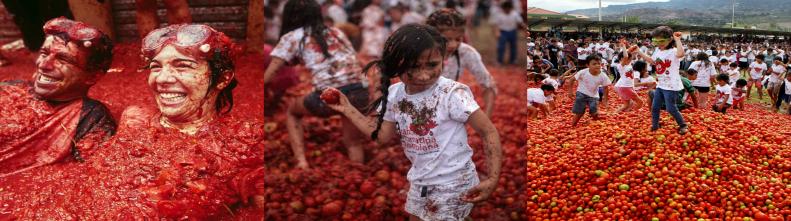 Фотографии фестиваля Ла Томатина