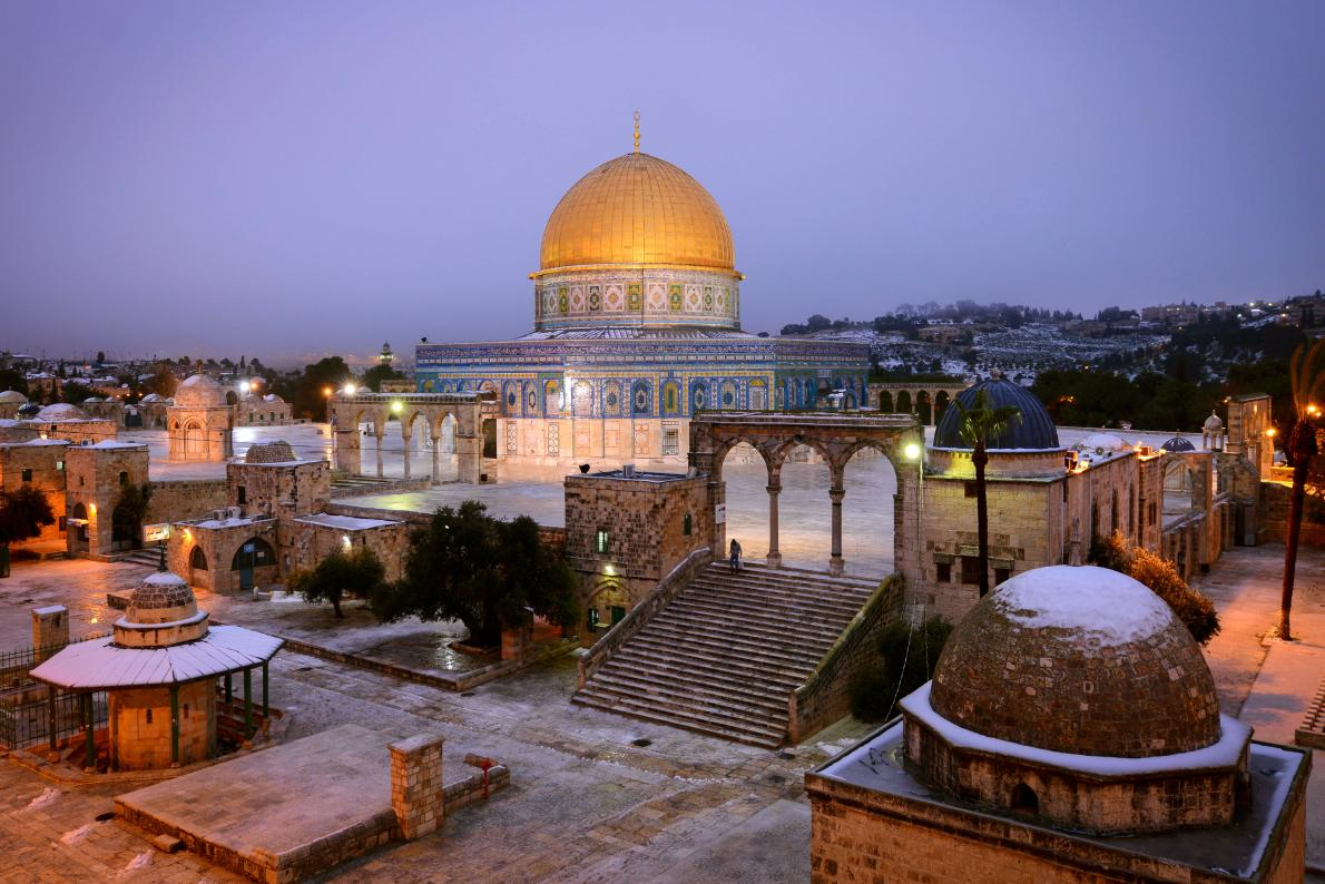 gold-purple-dome-rock-jerusalem-foto