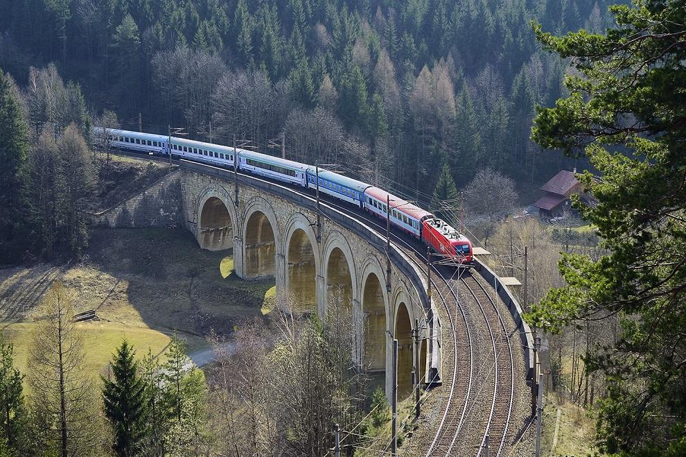 Австрийские железные дороги заняли 3 место в рейтинге