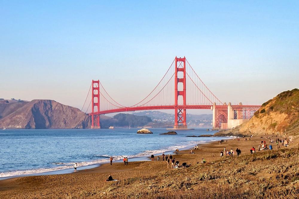 Бейкер Бич (мост Золотые Ворота) - невообразимый вид на мост