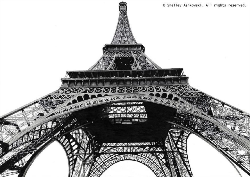 Среди работ Шелли есть Эйфелева башня
