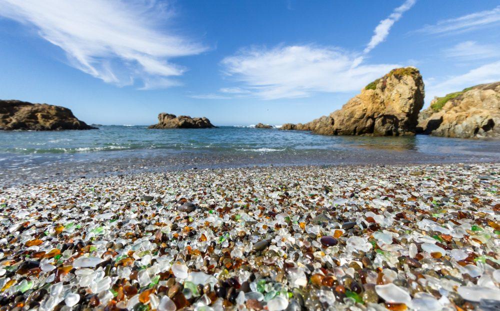 Гласс Бич (Стеклянный пляж) - один из самых чистых