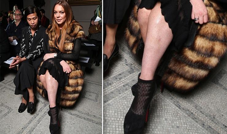Линдси Лохан не бреет ноги