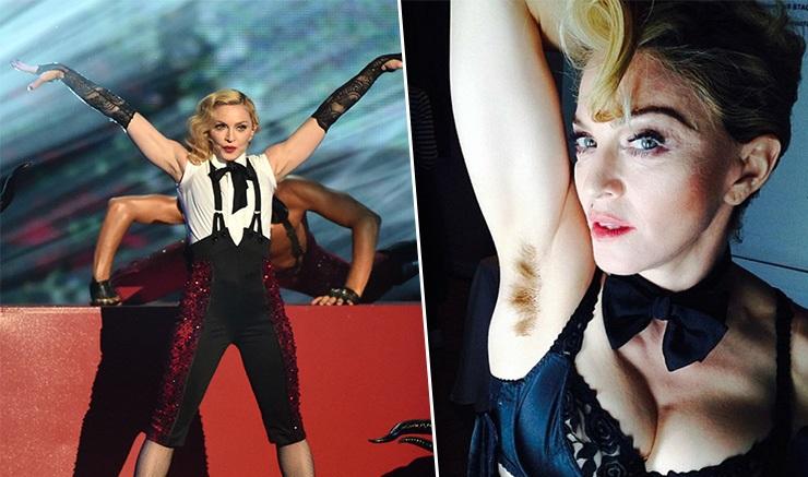Мадонна не бреет подмышки