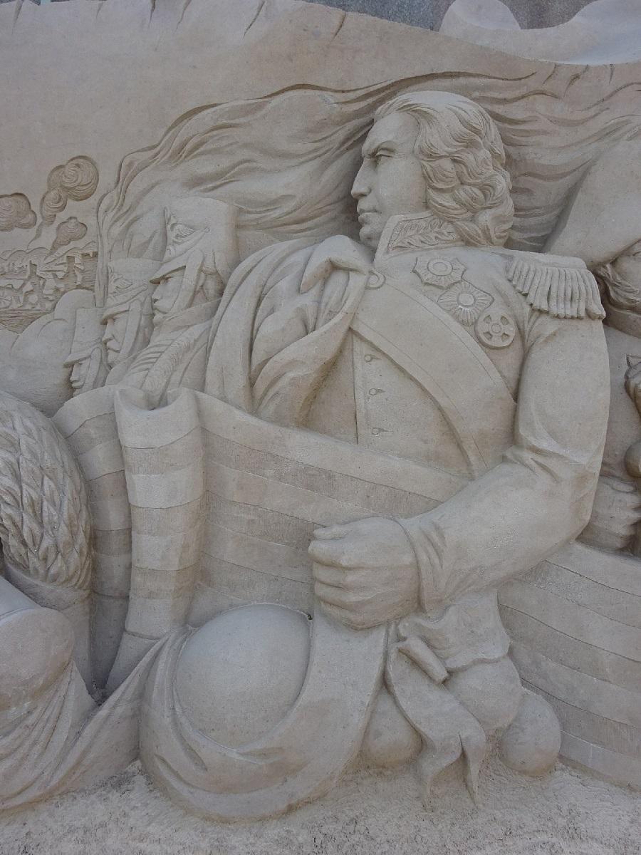 Петр І в 2017 году также присутствовал среди скульптур