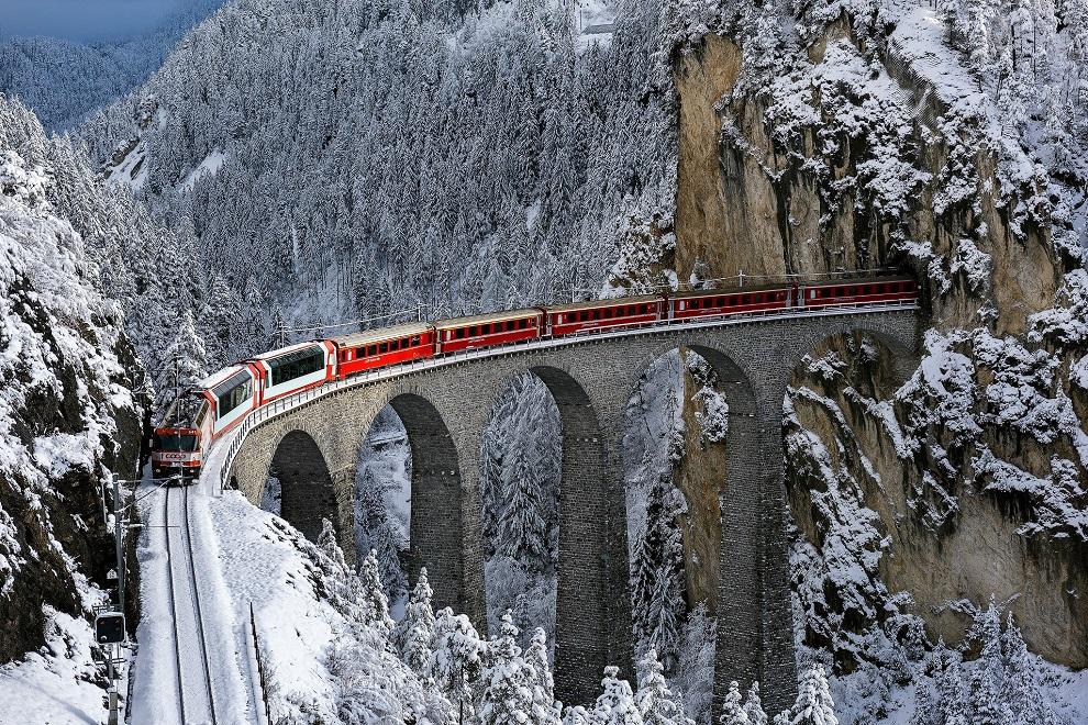 1 место в рейтинге заняли швейцарские железные дороги