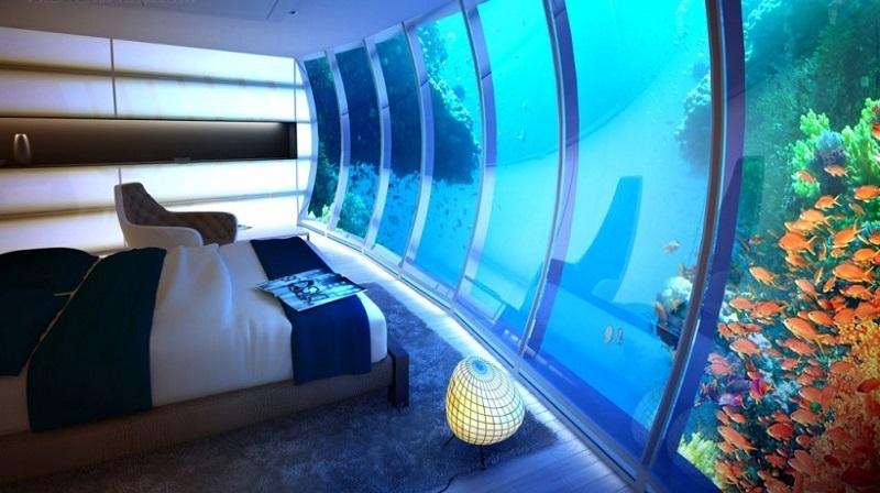Спальня под водой