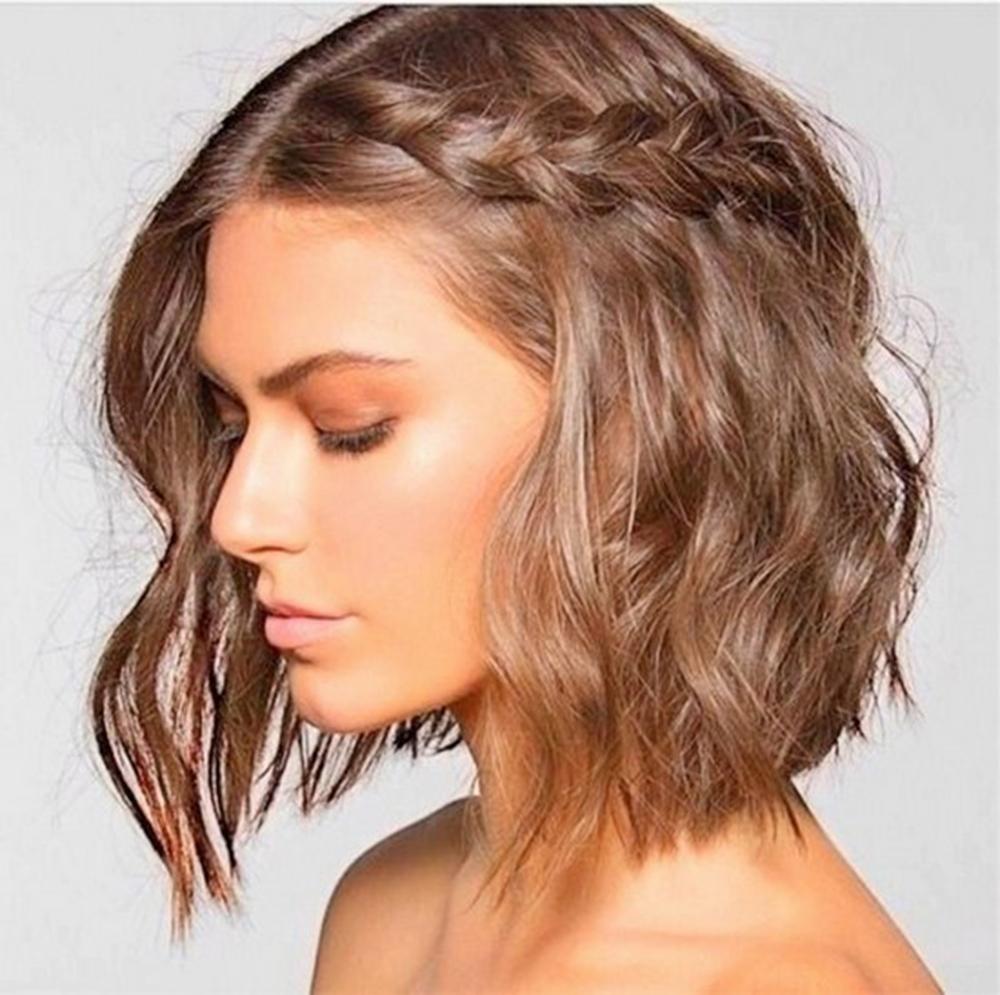 Ещё один вариант модной причёски