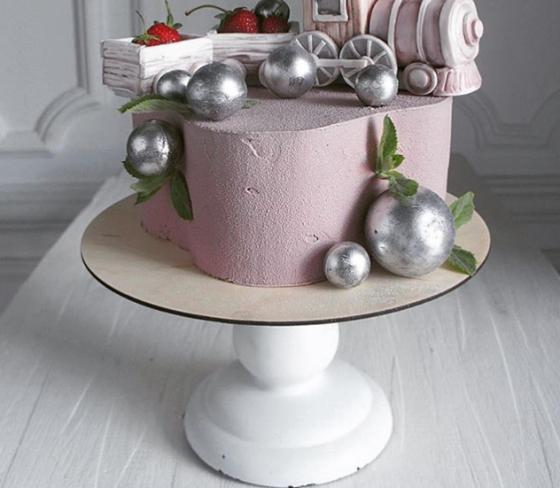 Торт с жемчугом