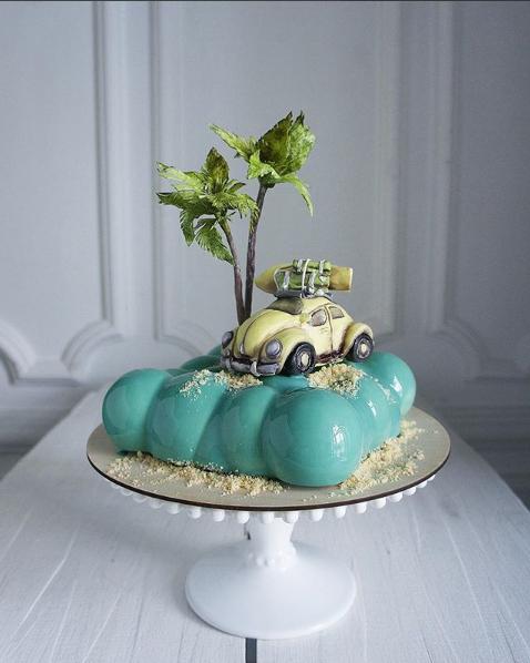 Торт с пальмой