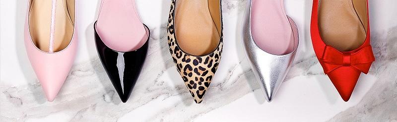 Сатиновые туфли входят в моду
