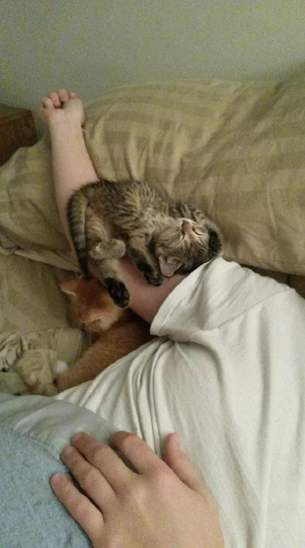Ещё одна удобная поза для сна