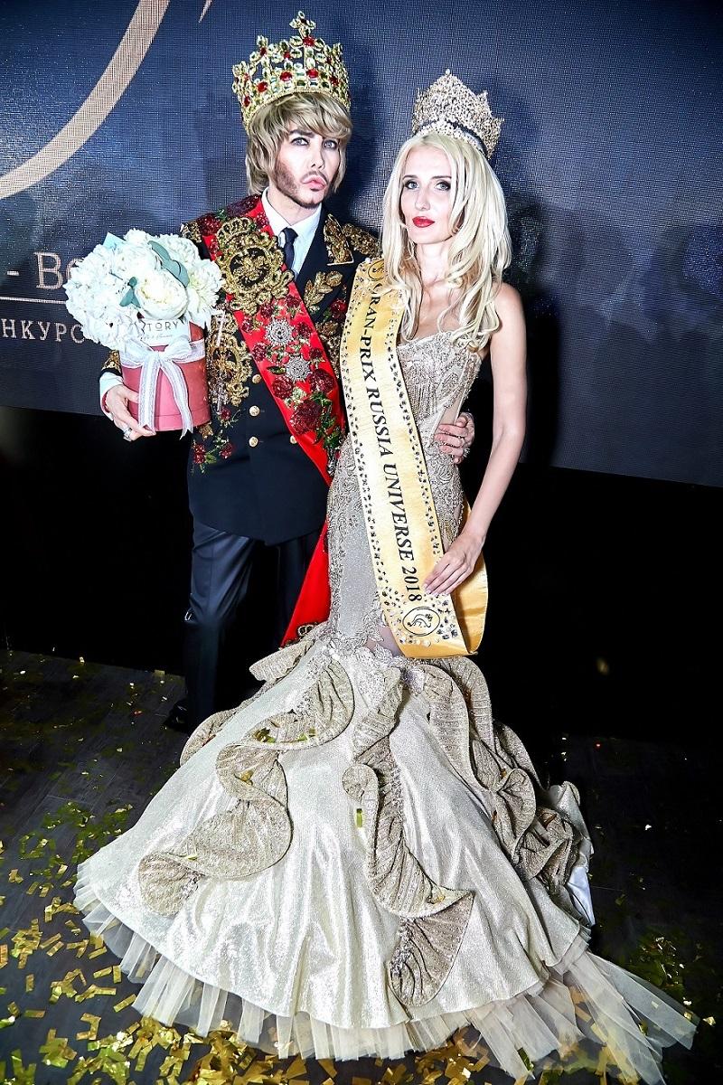 Сергей Зверев с победительницей конкурса