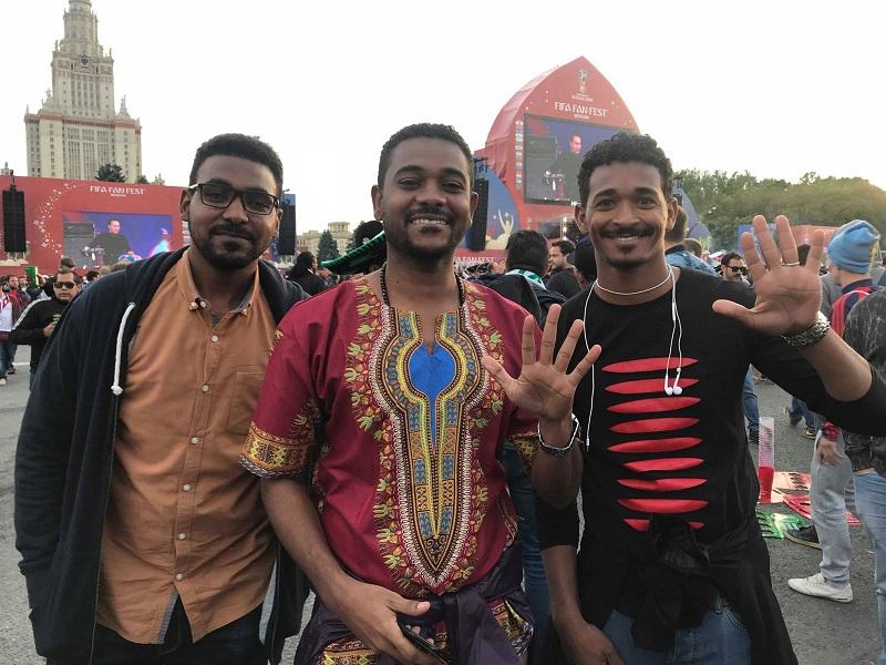 На открытие ЧМ 2018 съехались фанаты с разных стран мира