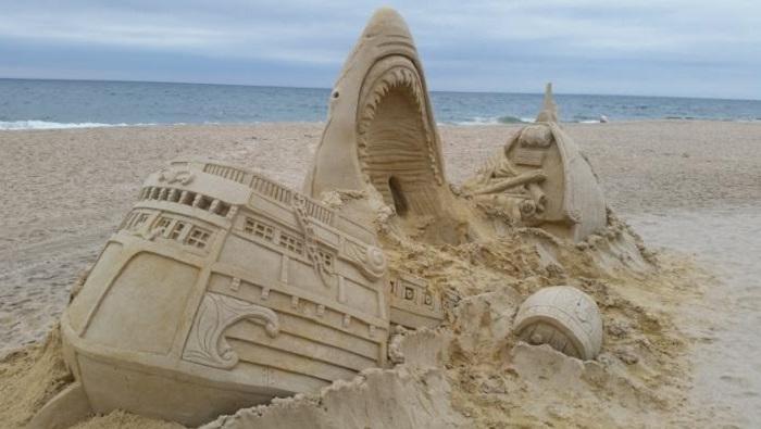 Песочные шедевры на пляжах мира