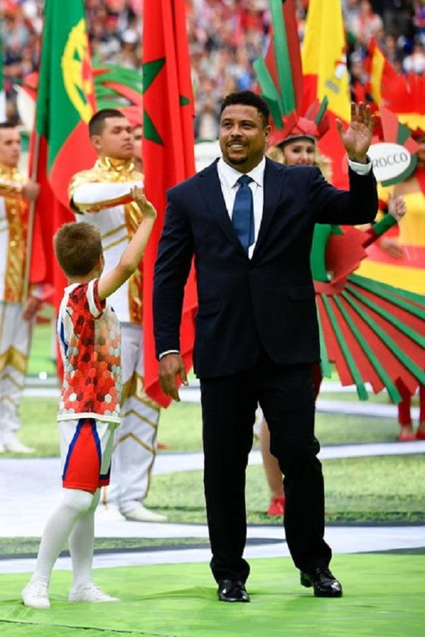 В церемонии открытия ЧМ 2018 принял участие Роналдо